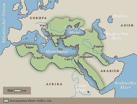 Osmanisches Reich 1680 n. Chr.